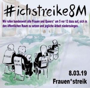 Internationaler Frauentag: Aufruf zum Streik! Wenn wir die Arbeit niederlegen, steht die Welt still!